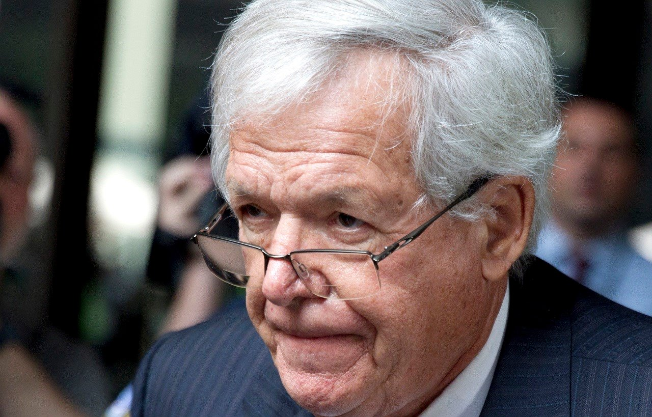 FILE - In this June 9, 2015 file photo, former House Speaker Dennis Hastert departs the federal courthouse, in Chicago for his arraignment on federal charges that he broke federal banking laws and lied about the money when questioned by the FBI.