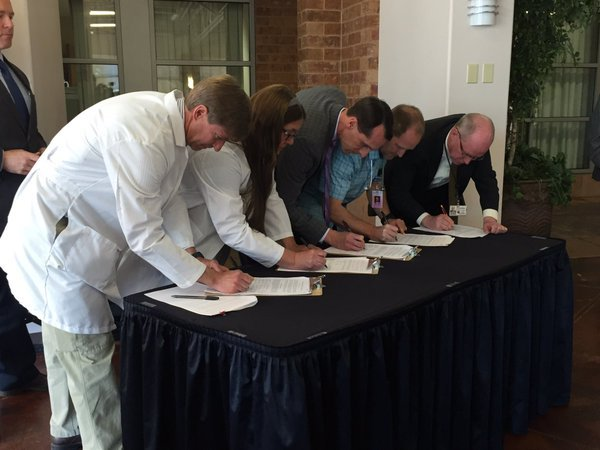 Pueblo healthcare leaders sign a petition in support of a marijuana opt out initiative.
