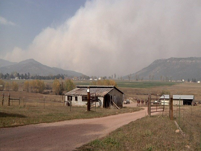The Junkins Fire as seen from Beulah Monday October 17, 2016