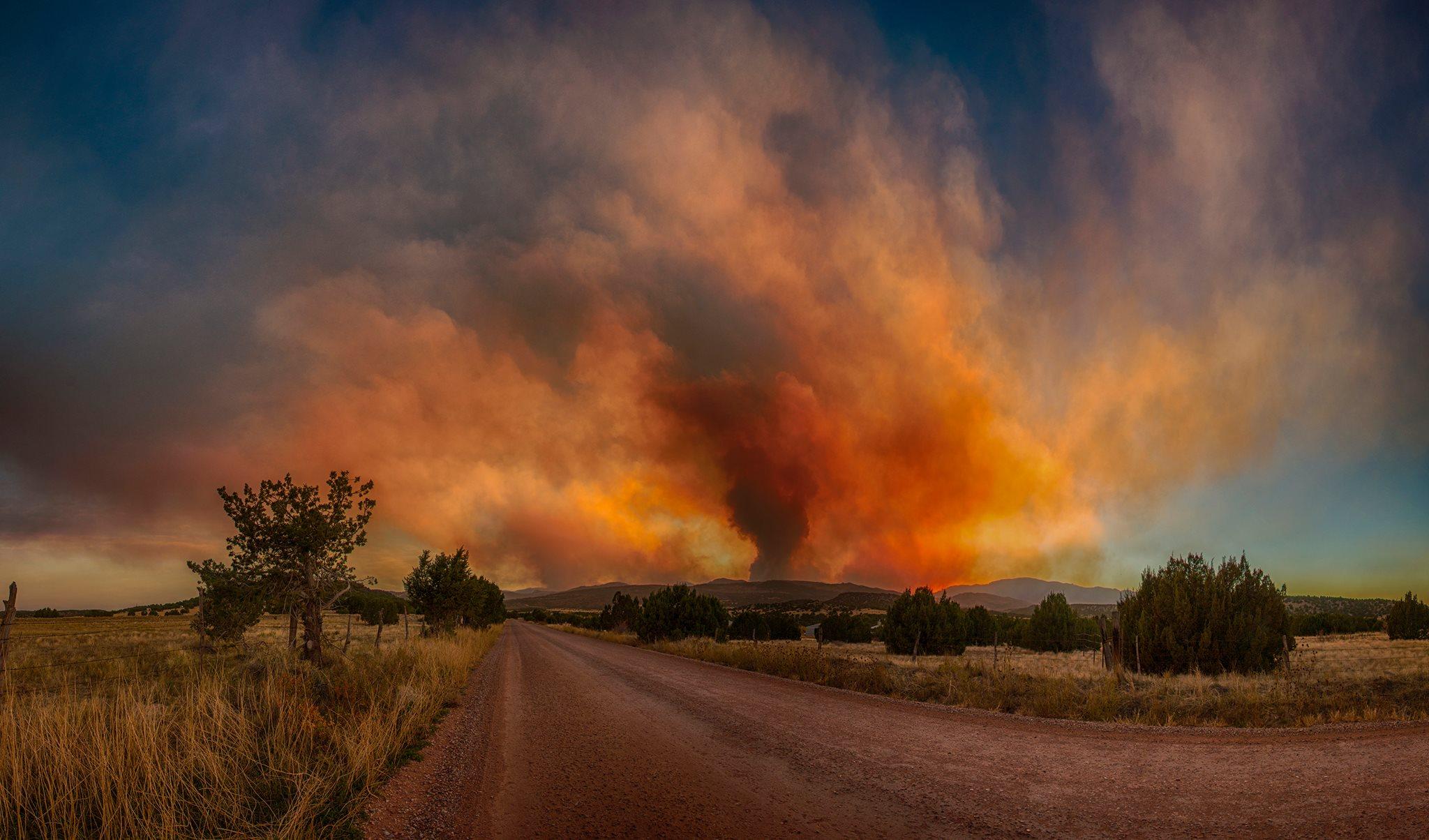 Junkins fire (Photo by Joe Randall)