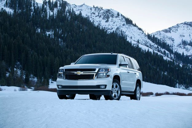 SUV in Mountain Snow