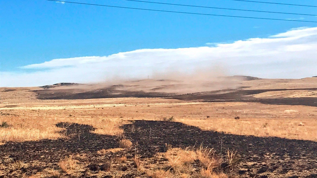 Sparks from blown over truck blamed for Colorado wildfire