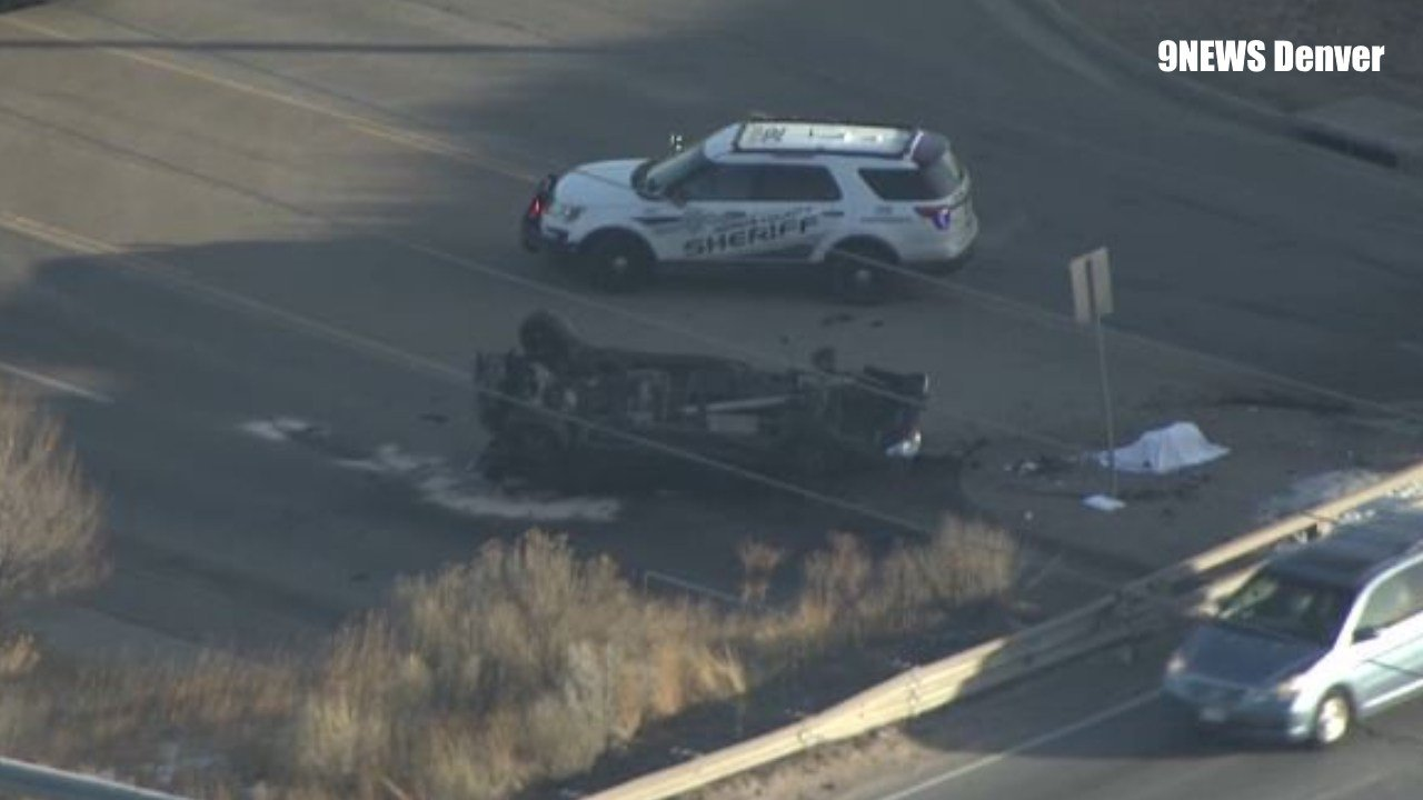 1 killed after car flipped off I-76 onto York Street in Adams County (9NEWS Denver)