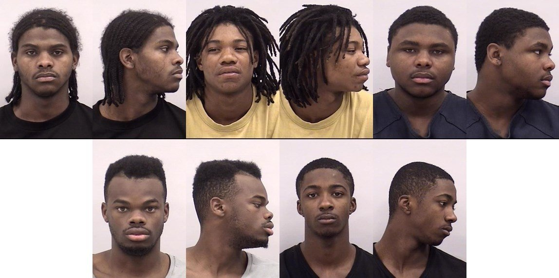 Top row from left: Tyron Williams, Clarence Williams, Jacolby Williams. Bottom row from left: James Williams, Tommy Williams. (Photos via CSPD)