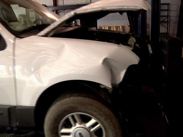 An unmarked Pueblo County Sheriff's Office SUV was totaled in a crash early in 2017