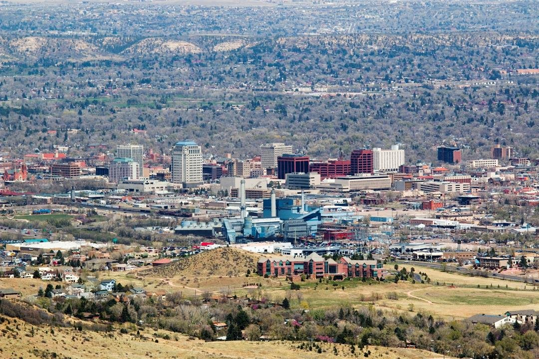 Skyline shot of Colorado Springs
