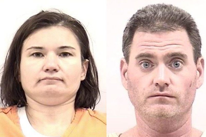 From left: Suspects Anna Chamberlin, Jake Ricker