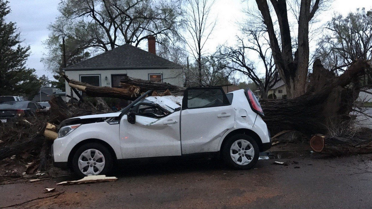 Viewer Phillip Casarez sent this photo from Pueblo near the Colo. State Fairgrounds. Peak gusts up to 75 mph have been measured in Pueblo.