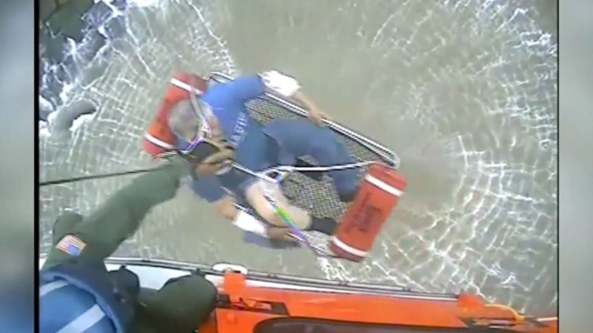 Coast Guard crews in Corpus Christi, Texas rescue 8 after boat overturns in Gulf of Mexico. (KRIS)