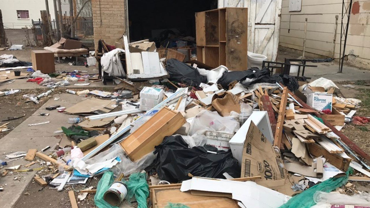 Toilets, shoes, cassette tapes, clothes, couches and even a bible are just a few things we found in the mess on the east side of town. (KOAA)