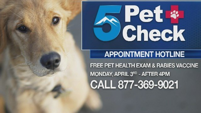 Our annual 5Pet Check is coming up soon.  In conjunction with Colorado Veterinary Medical Association we want to you help keep your pets healthy