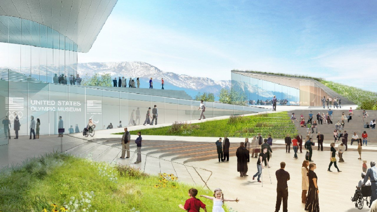 Artist's rendering of the US Olympic Museum. (Courtesy: Diller Scofidio + Renfro)