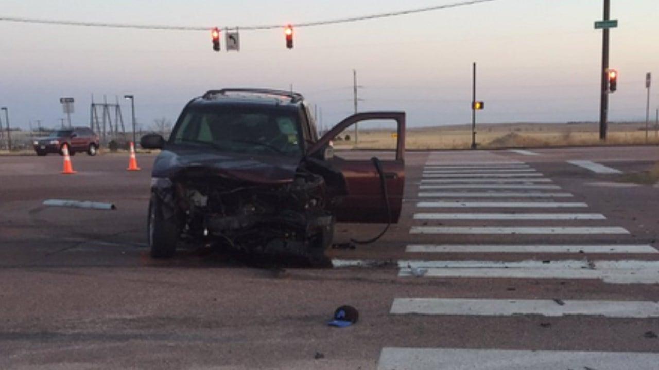 Crash scene on Woodmen Rd. (Colorado State Patrol)