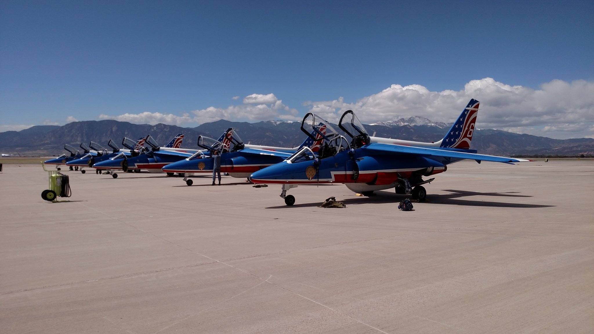 French flying team performs over Air Force Academy