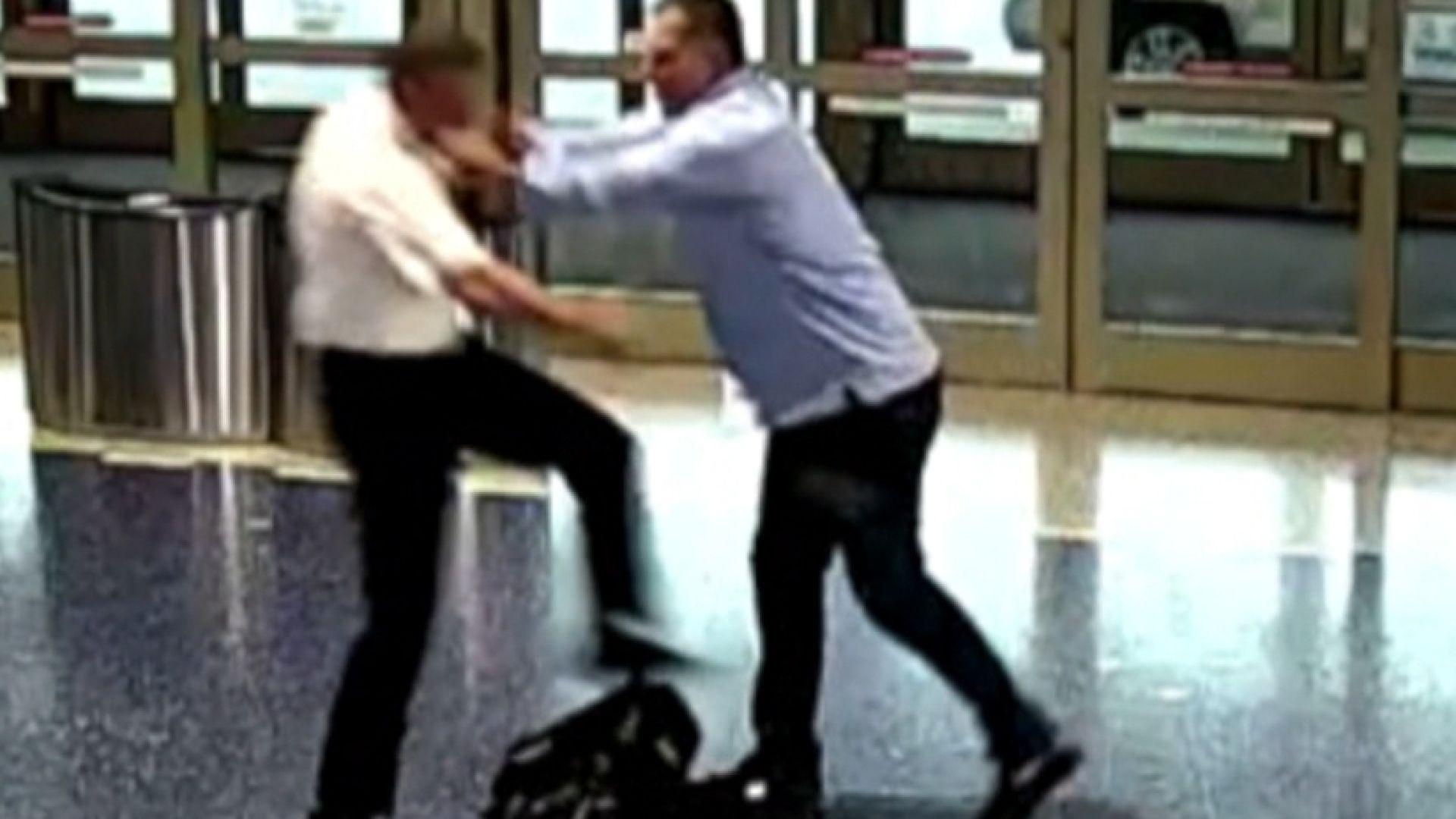 A passenger attacks an airline pilot at Kansas City International Airport.