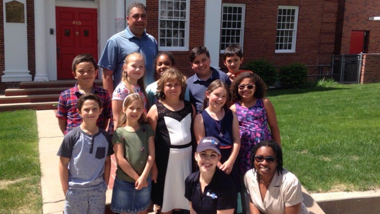 First Alert 5's Jessica Van Meter visits the McClelland School for Storm Safe. (KOAA)