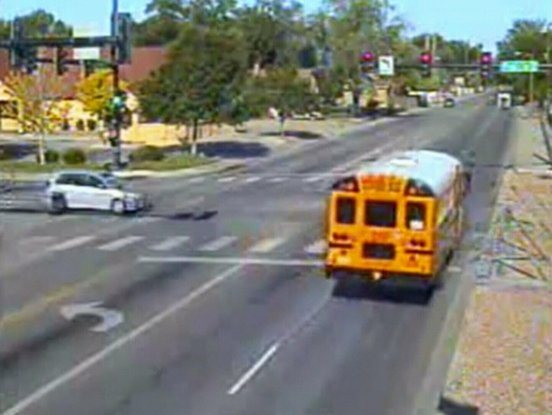 First Student Bus runs red light
