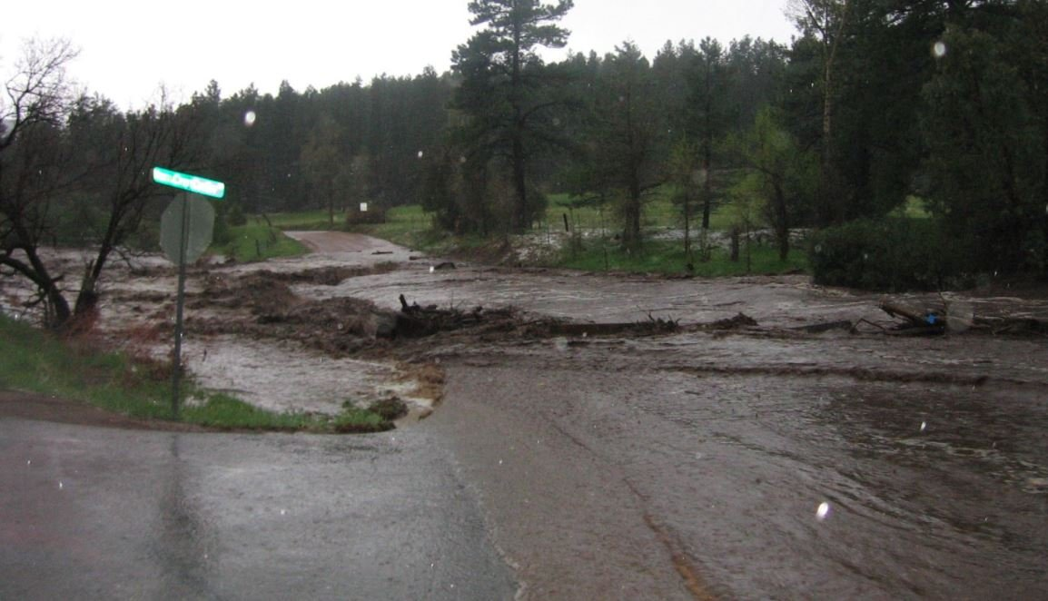 Several roads in Beulah are closed due to heavy flooding. (Pueblo County Sheriff's Office)