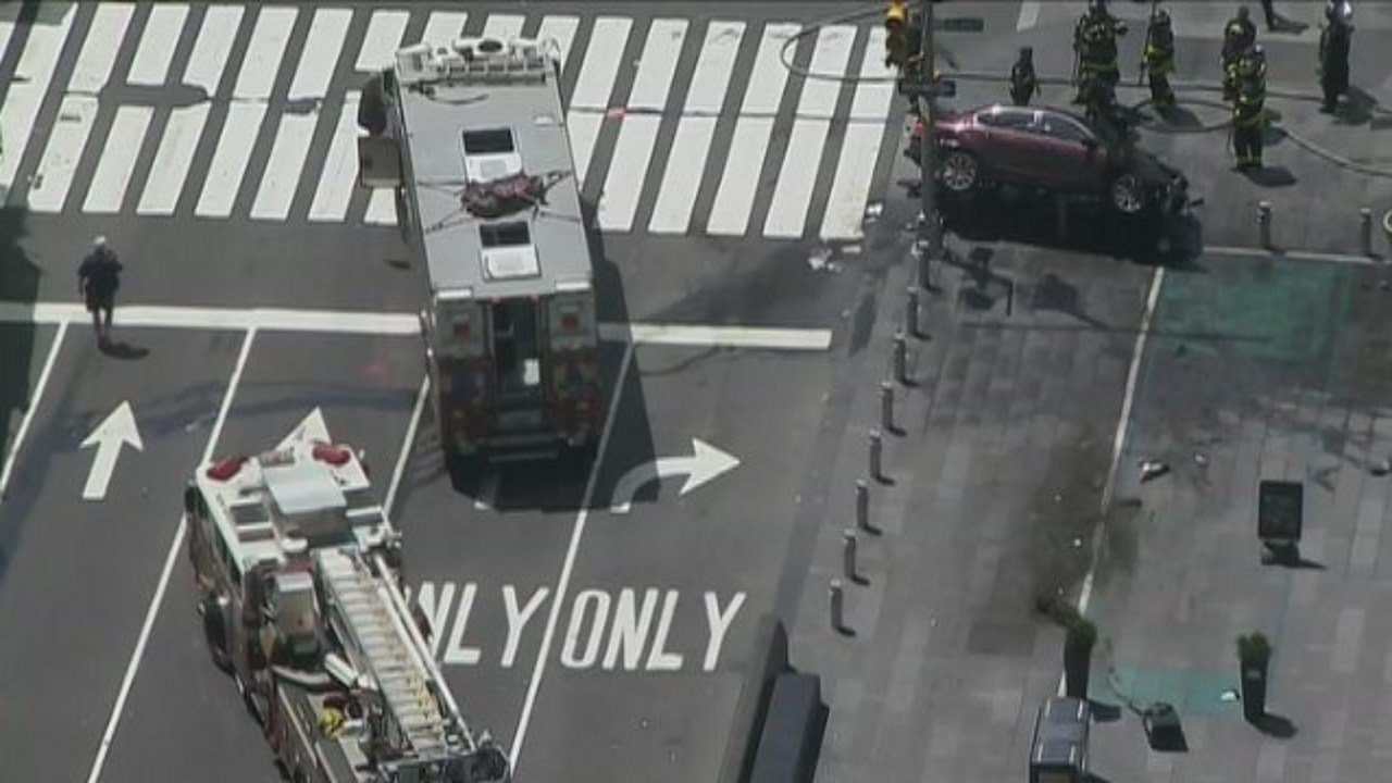 NYPD is investigating a crash that injured an estimated 10 people in Times Square. (NBC News)