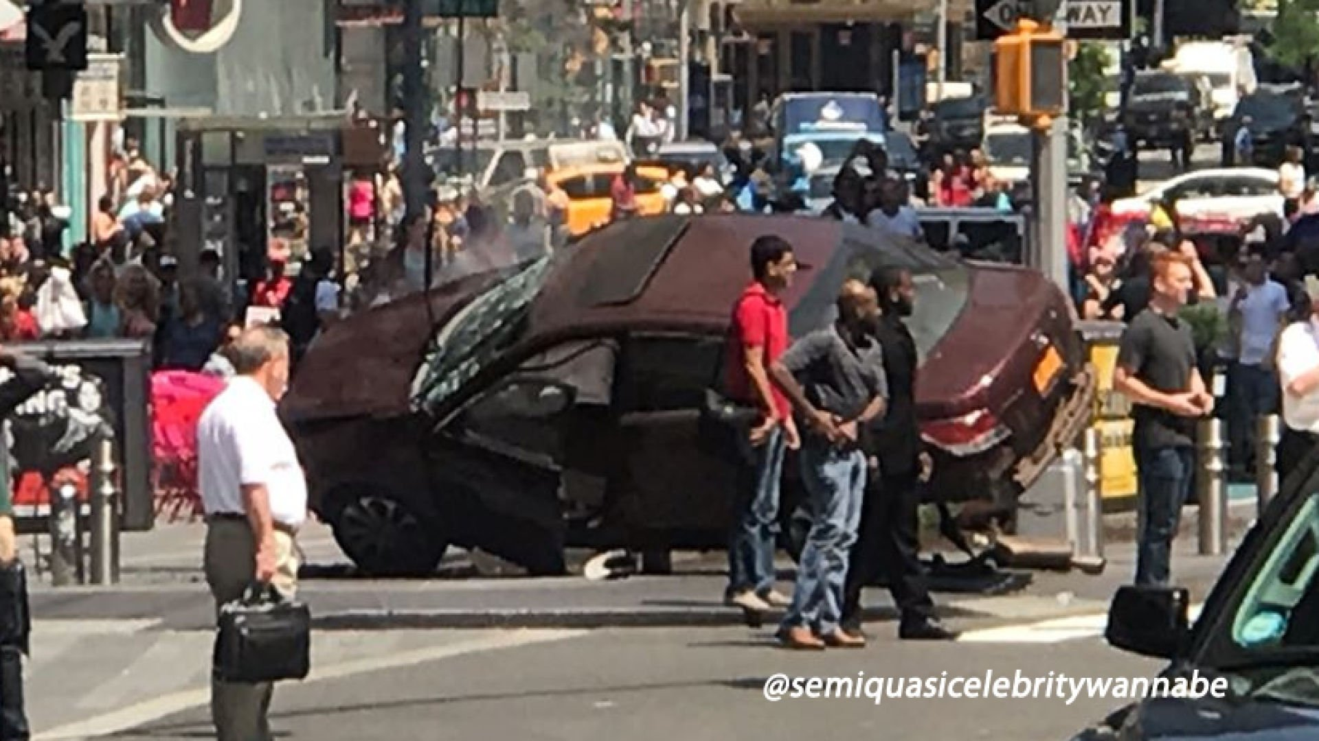 NYPD investigating car crash in Times Square.