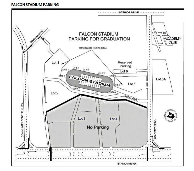 Falcon Stadium parking lot