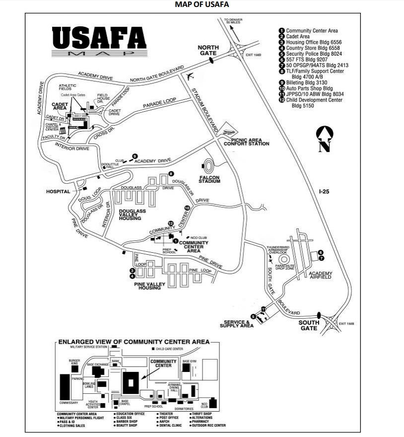 Map of Air Force Academy