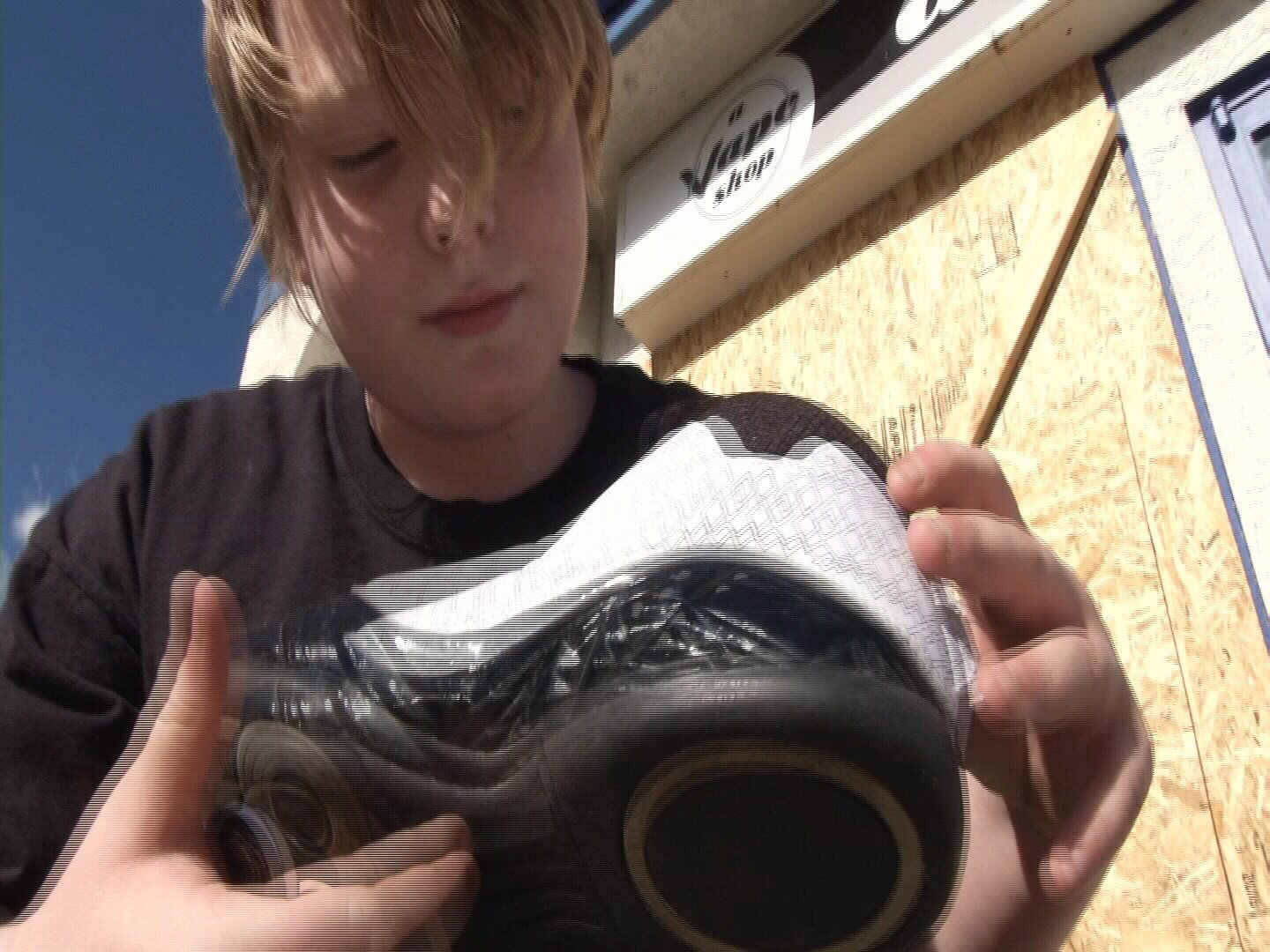 "Kyler Nipper has donated more than 700 pairs of shoes to kids in need since starting ""Kyler's Kicks"" in October. (KOAA)"