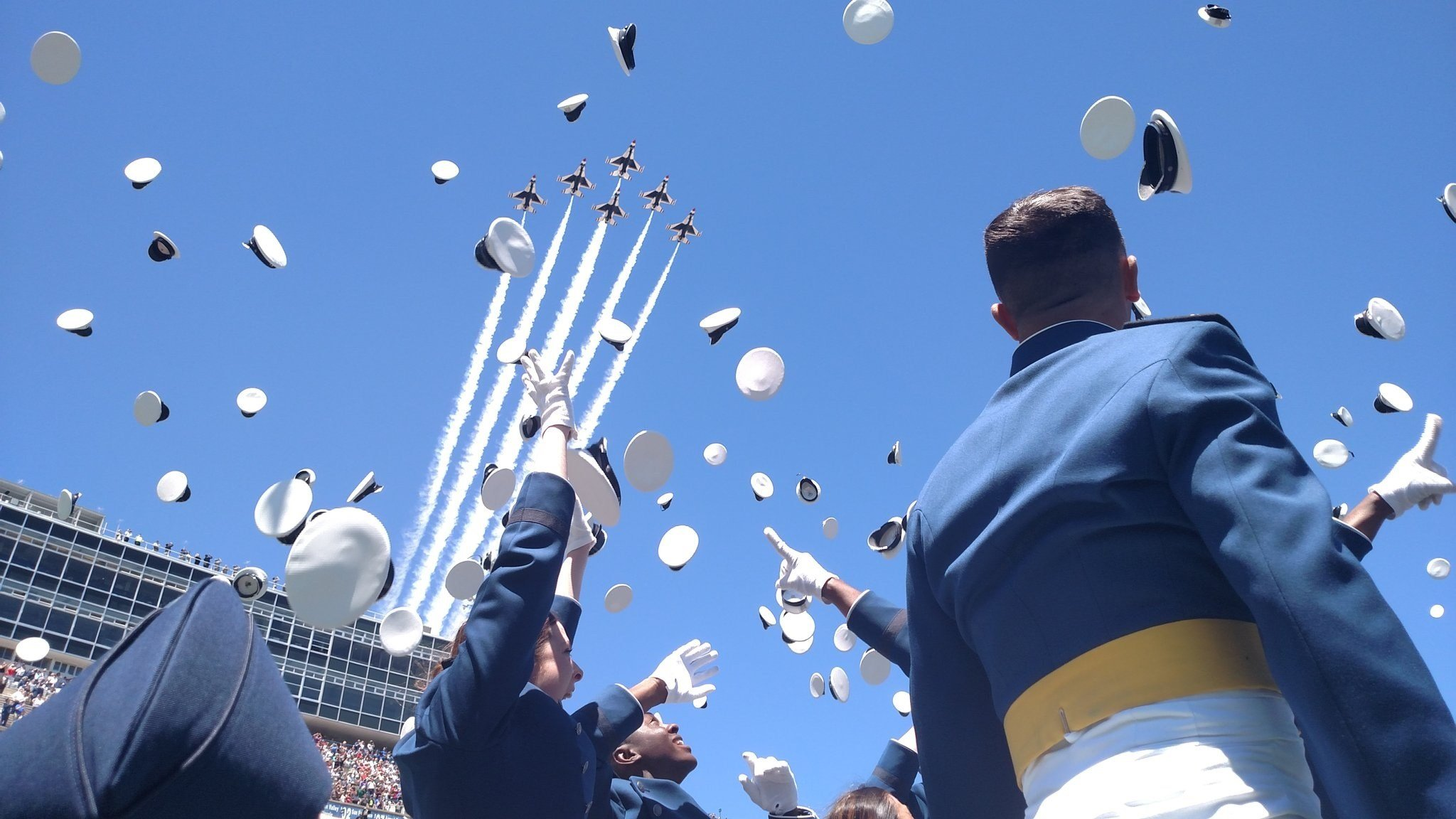 Congratulations to the 2017 graduates of the US Air Force Academy. (Photo: Bill Folsom)