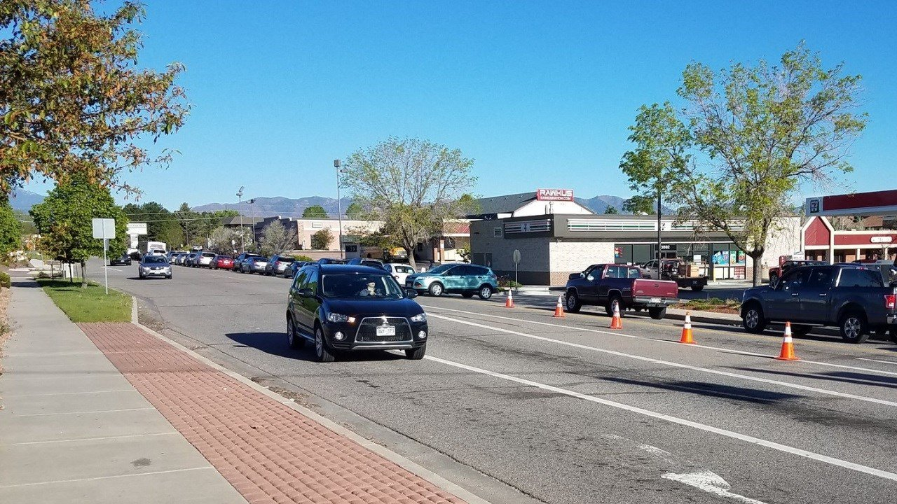 Traffic is slow on Academy Blvd. at N. Carefree Circle due to a shooting and car crash. (KOAA)