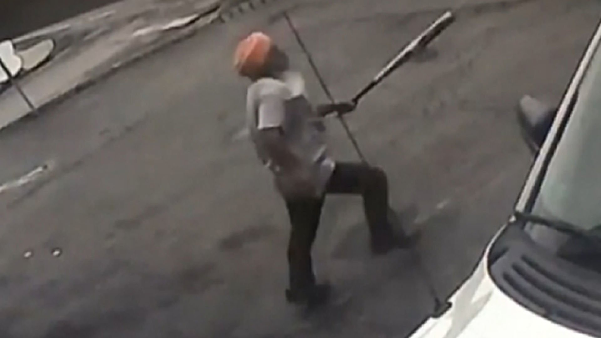 A store owner chases two robbers out of his store in New York state.