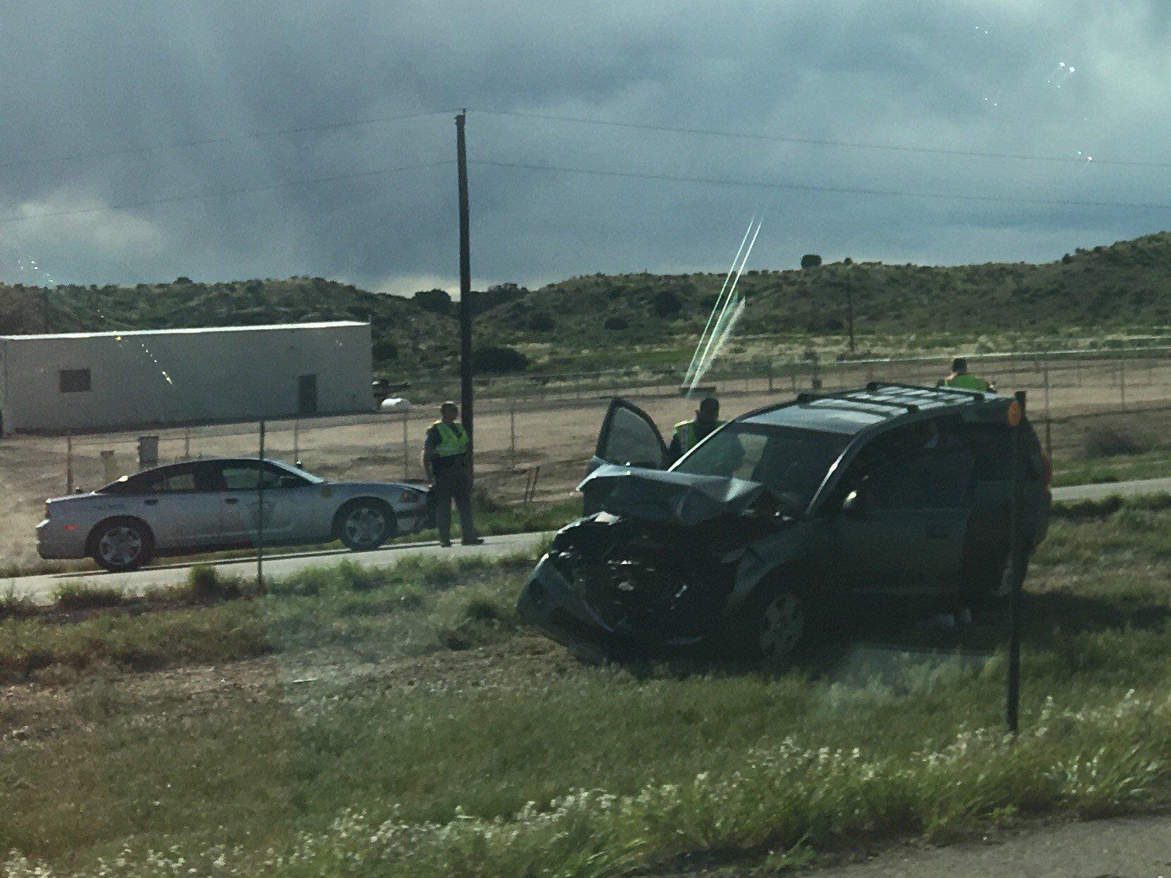 Crash along SB I-25