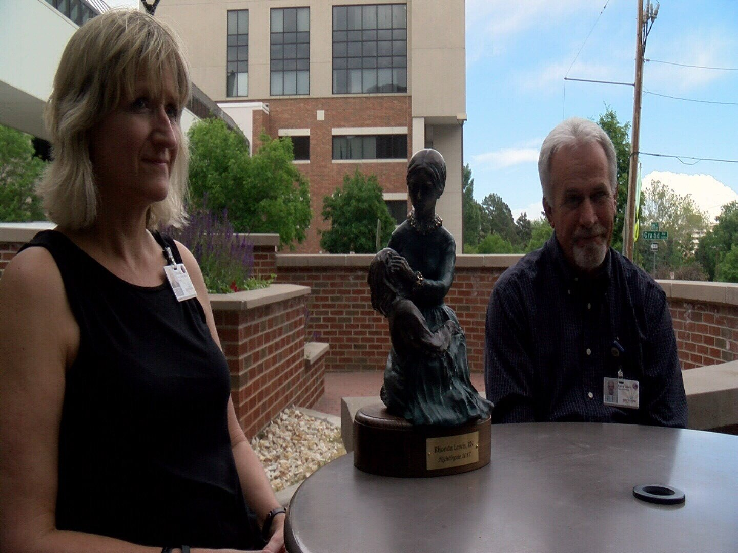 From the left: Rhonda Lewis and Larry Lewis of Pueblo have both received Nightingale awards, the top honor in nursing