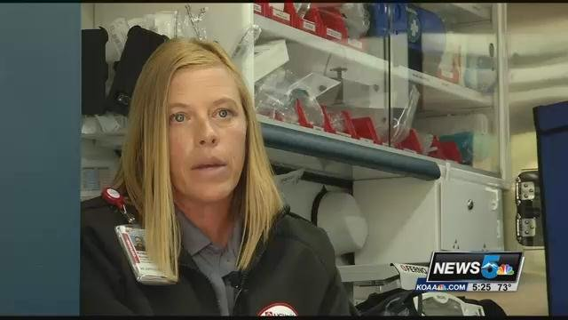 Kristin Buchanan, is a registered nurse who splits time in Colorado Springs between the emergency room at UCHealth Memorial, and the MSTU when it's on duty in the Springs
