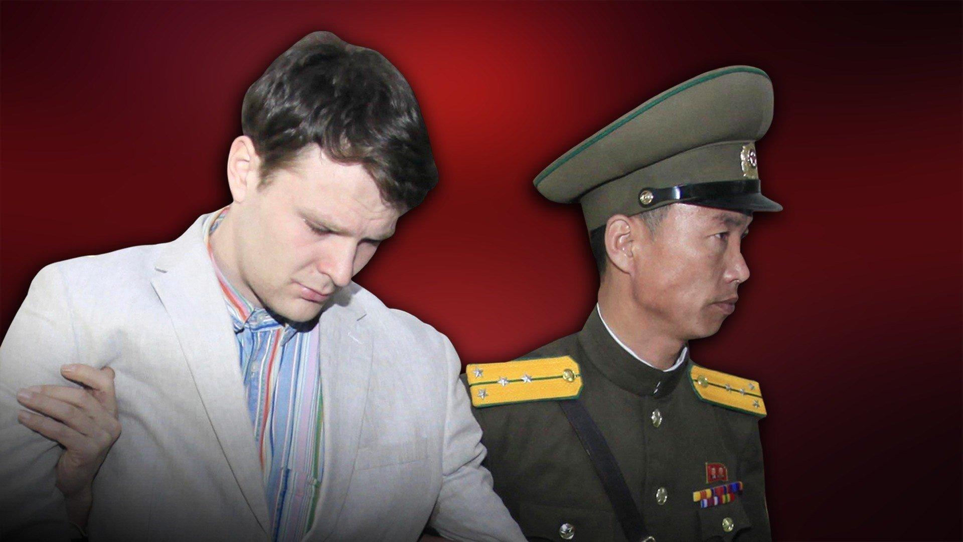 University of Virginia student Otto Warmbier under detention in North Korea.