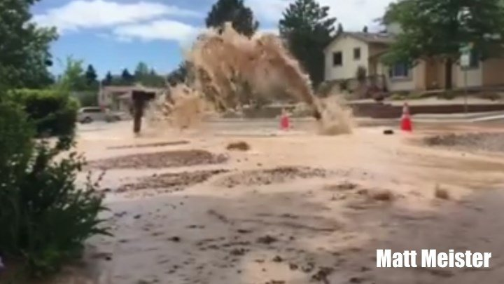Matt Meister shared this video of a water main break on Delmonico Drive.