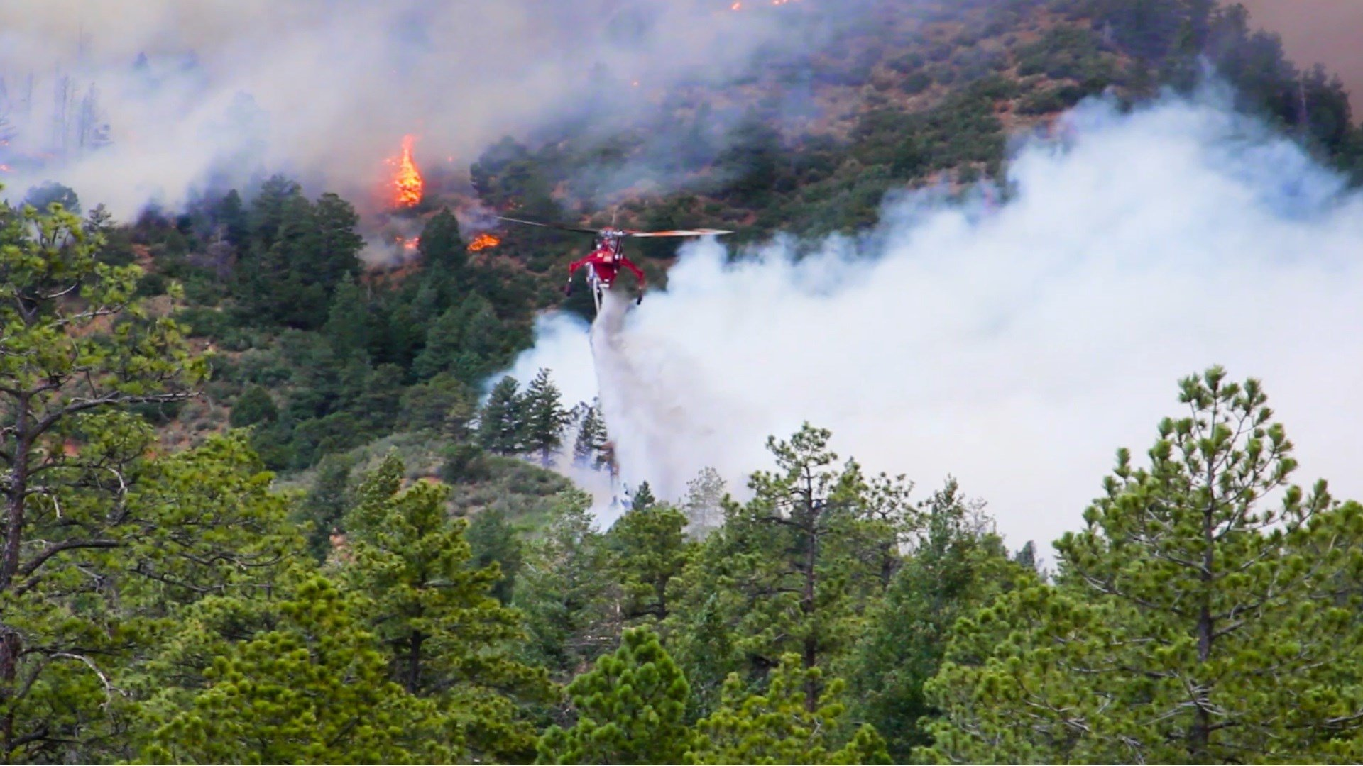 The Waldo Canyon Fire burns in western Colorado Springs in June 2012.