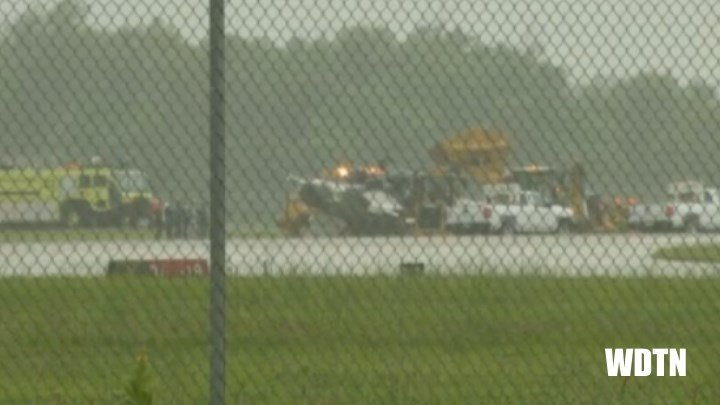 An Air Force Thunderbird crashed during practice for an air show in Dayton, Ohio. (WDTN)