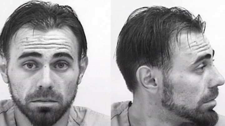 Brandon Cline, arrested by Colorado Springs PD for menacing and other charges.