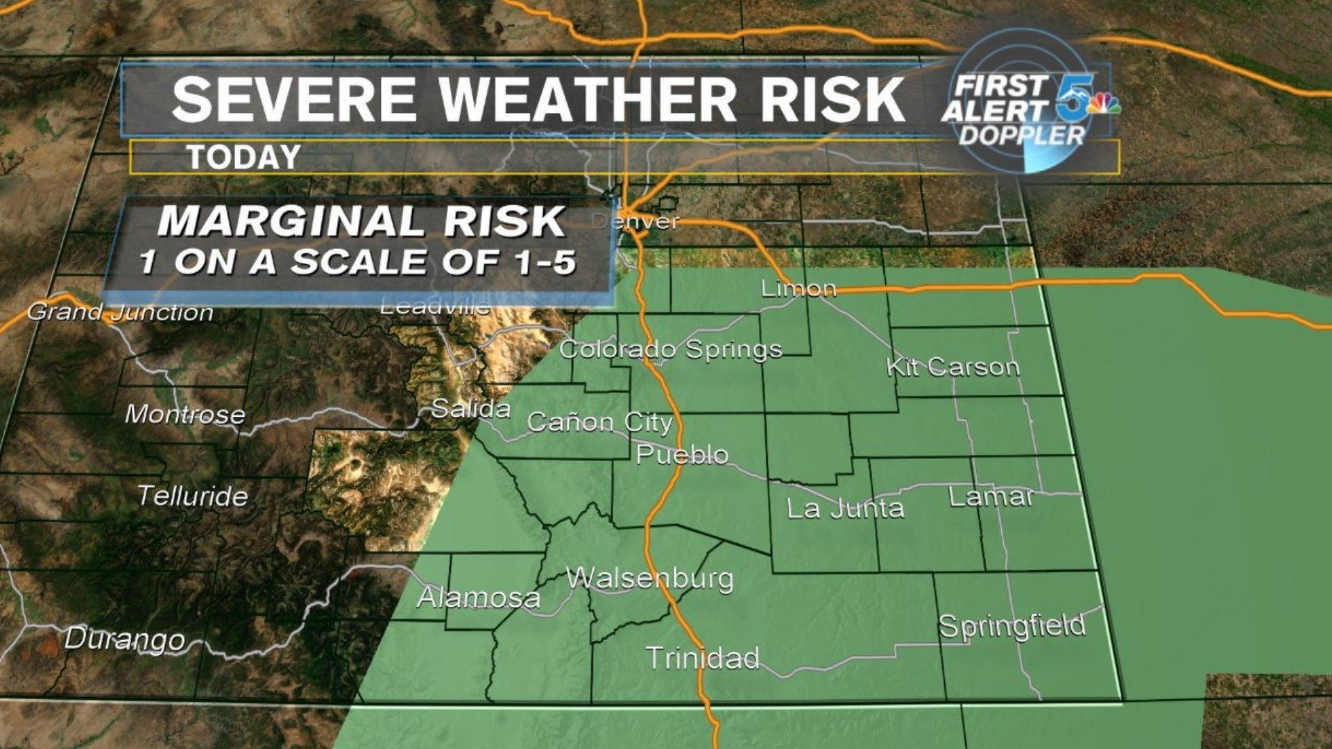 The severe weather outlook for Monday, June 26. (KOAA)
