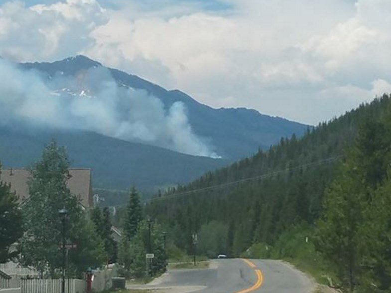Evacuations underway as wildfire breaks out near Breckenridge, Colorado