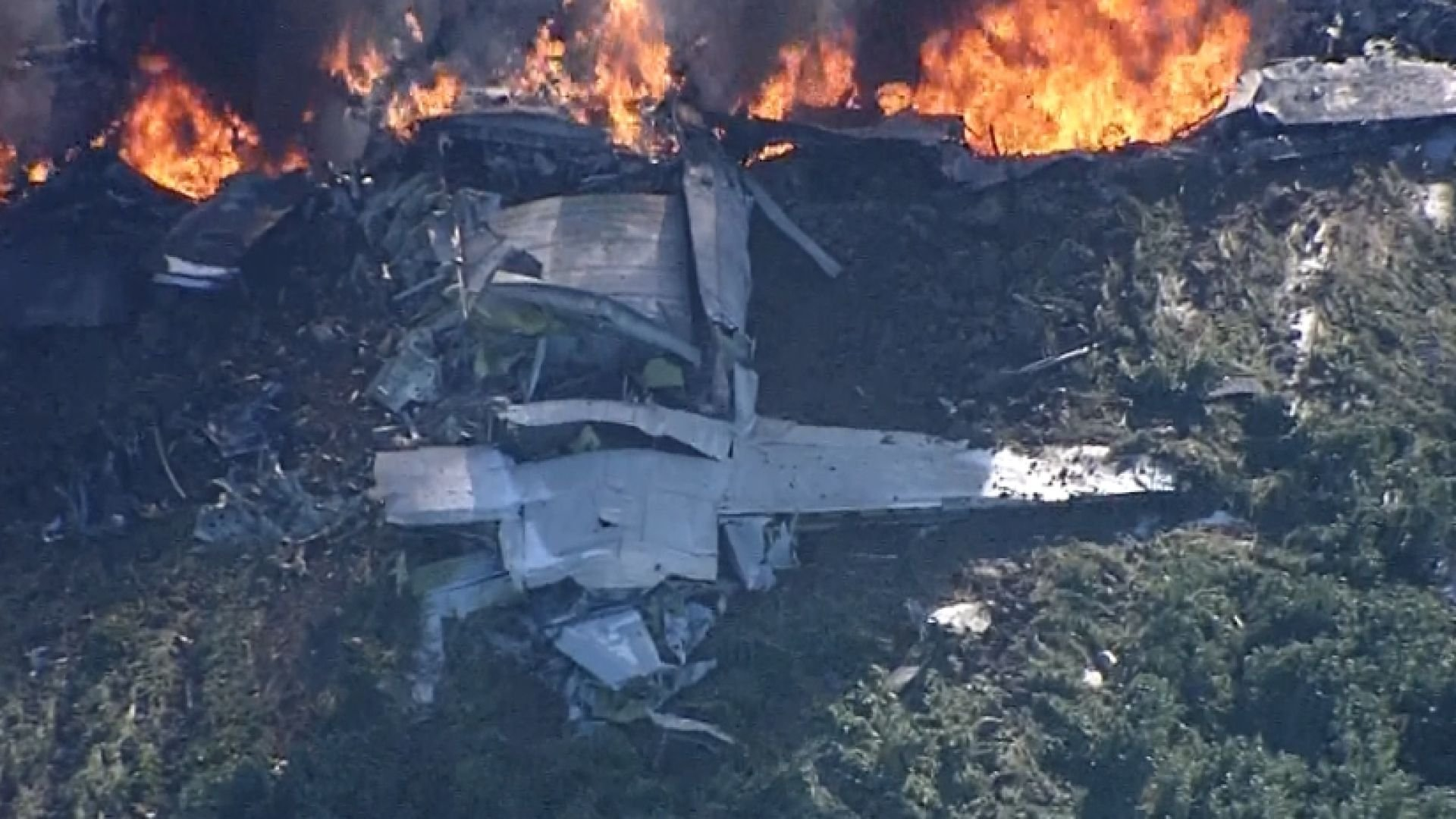 All 16 on a Marine Corps KC-130 died when the plane crashed in Mississippi. (NBC News)