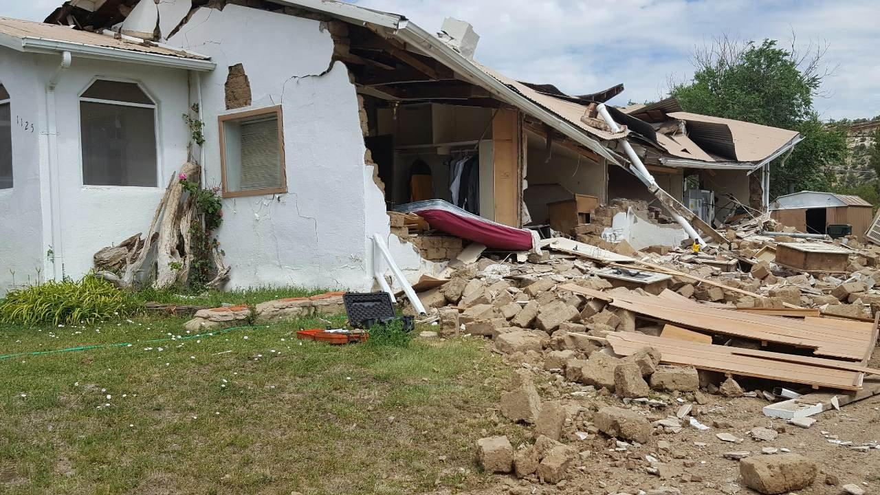 A home on Smith St. in Trinidad is a total loss due to a suspected natural gas leak. (Photo: Paul Cordova)