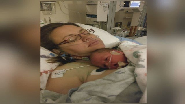 Svenja Carlson a Colorado Springs mom, who developed the most severe type of placenta accreta with her third pregnancy.