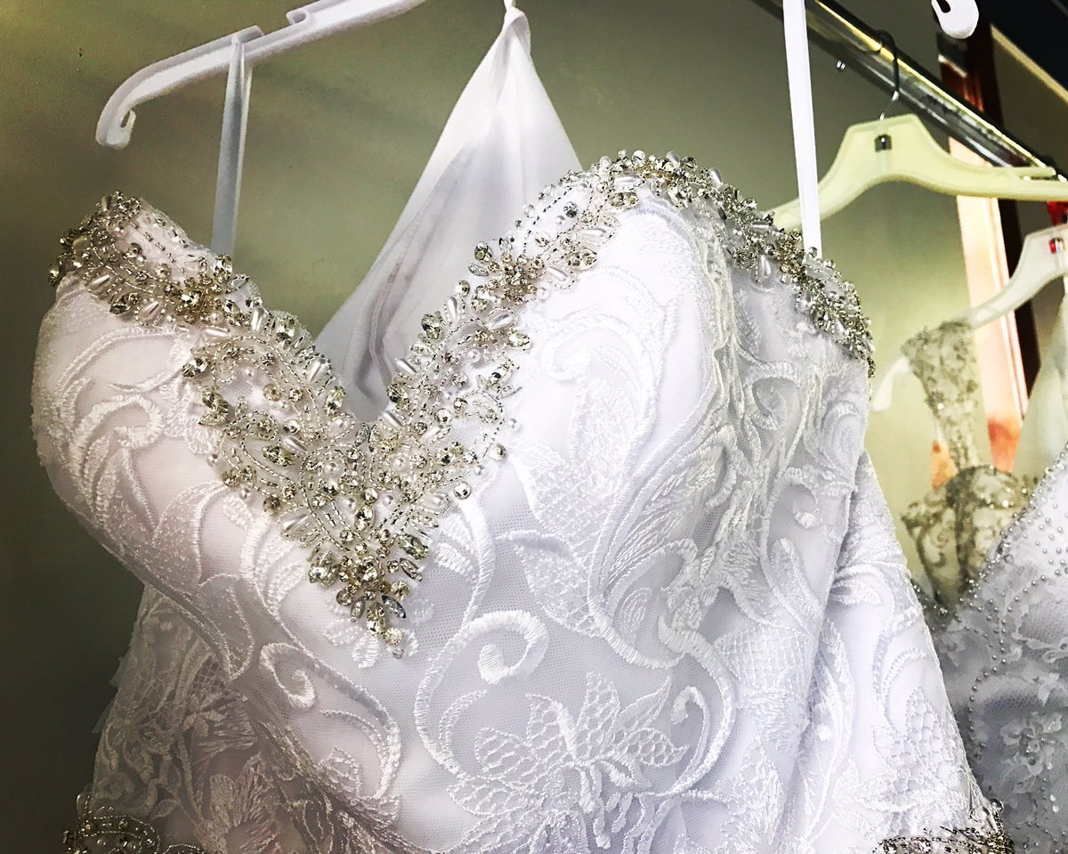 Alfred Angelo gowns fill the floor of Bridal Village in Pueblo. (KOAA)