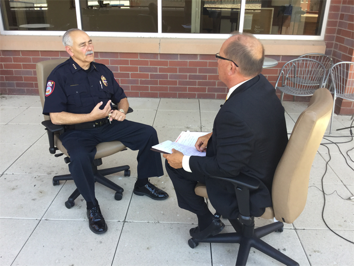 Pueblo Police Chief Lou Velez sits down with News 5's Rob Quirk one-on-one.