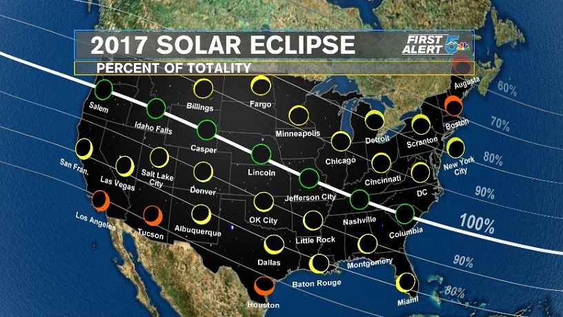 One month away from total solar eclipse: What to expect