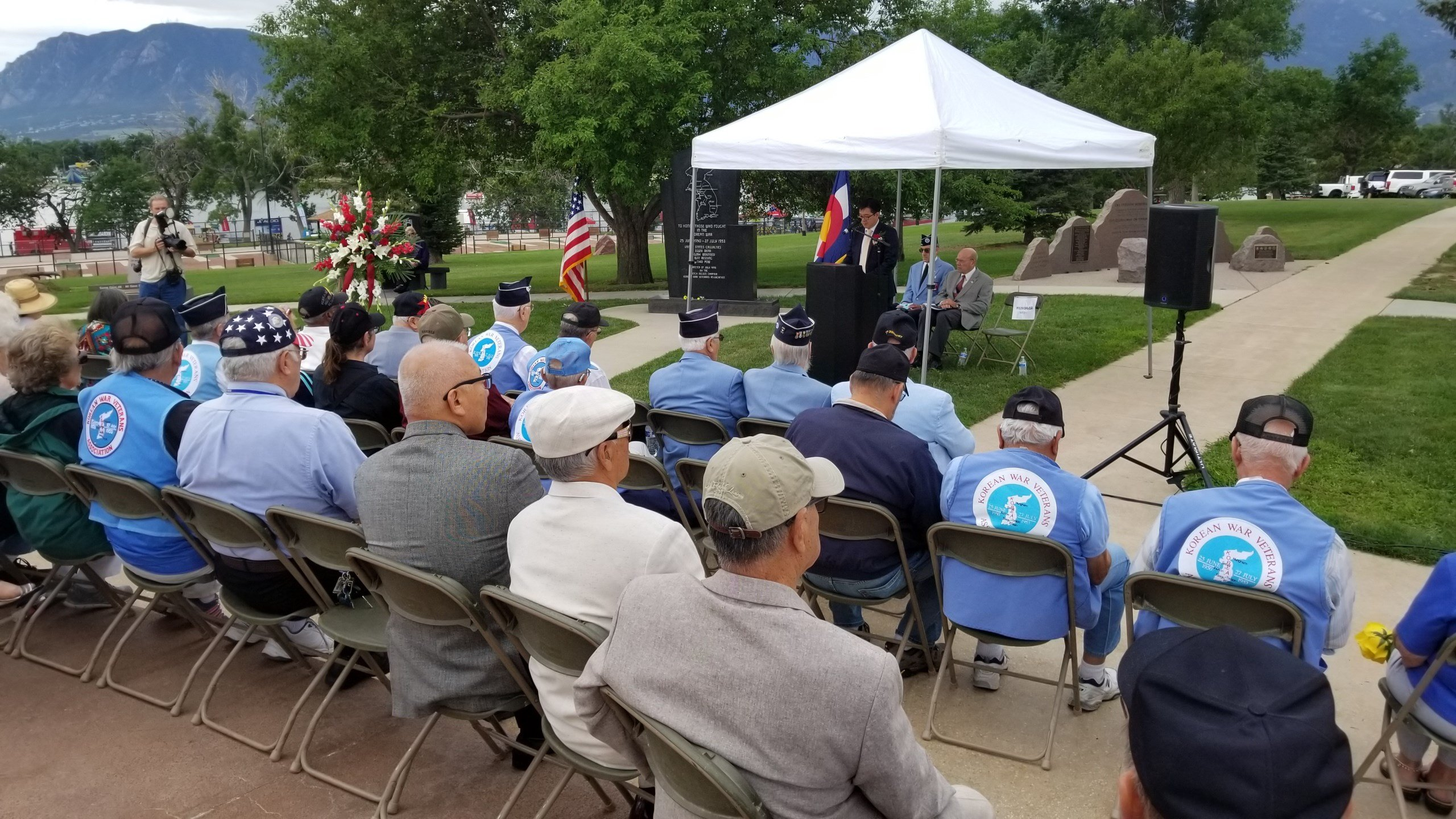 Ceremony held at Memorial Park in Colorado Springs by the members of the Dutch Nelsen Chapter of the Korean War Veterans Association