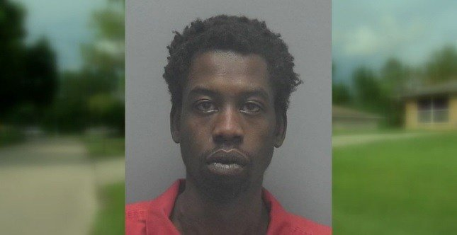 Florida man Mike Lado, 26, is suspected of stabbing his girlfriend's dog to death.