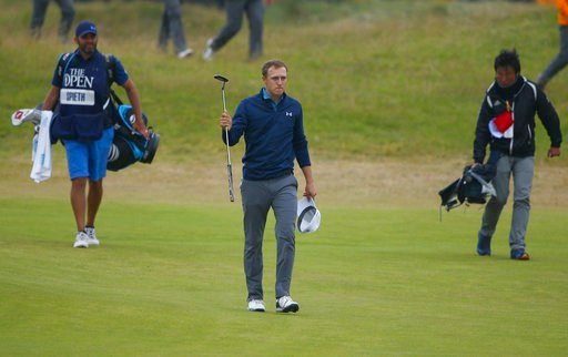 Jordan Spieth of the United States makes his way to the 18th green during the final round of the British Open Golf Championship, at Royal Birkdale, Southport, England, Sunday July 23, 2017.