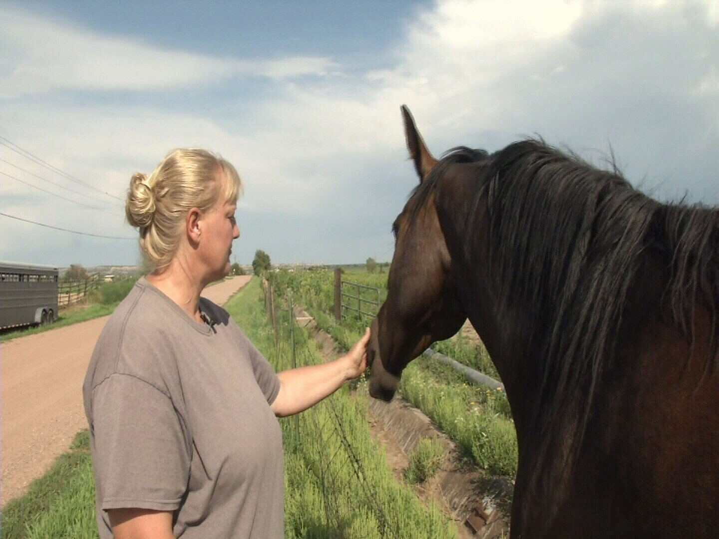 Penny Gingerich spends time with her horses hours after she was found not guilty on all 40 counts of animal abuse. (KOAA)